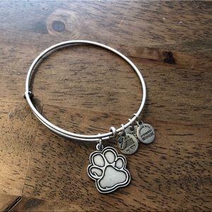 Alex and Ani Paw print charm bracelet